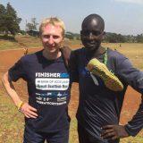 Colin trains in Kenya.