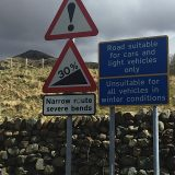 The warning at the base of Hardknott Pass.