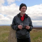 Rob Woodall's final trig pillar. Benarty Hill in Fife. Pic credit: Janet Munro.