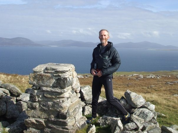 Rob Woodall on Conachair, St Kilda, in September 2009. PIc credit: Bob Kerr
