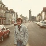 Back then! Mid 1980s.. me in Peebles High Street.