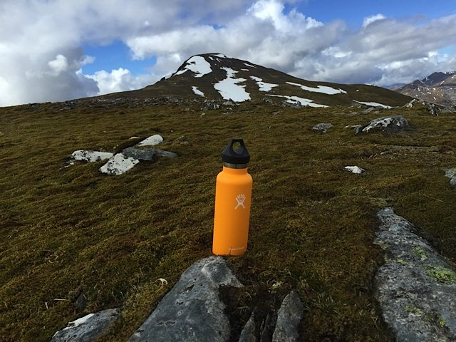 Walking Munros with a Hydro Flask of cold juice.
