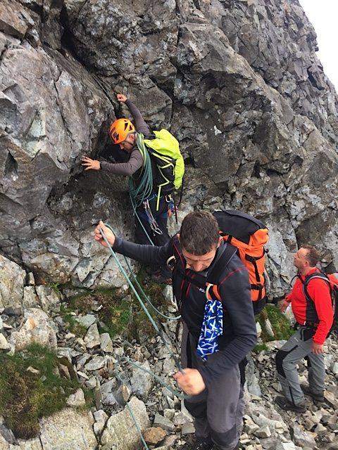 Back climbing between Sgurr Mhic Choinnich and Sgurr Alasdair.
