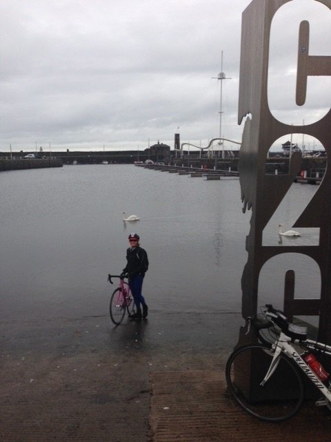 Tradition has it that you dip the rear wheel of your bike into the sea before setting off on the C2C.