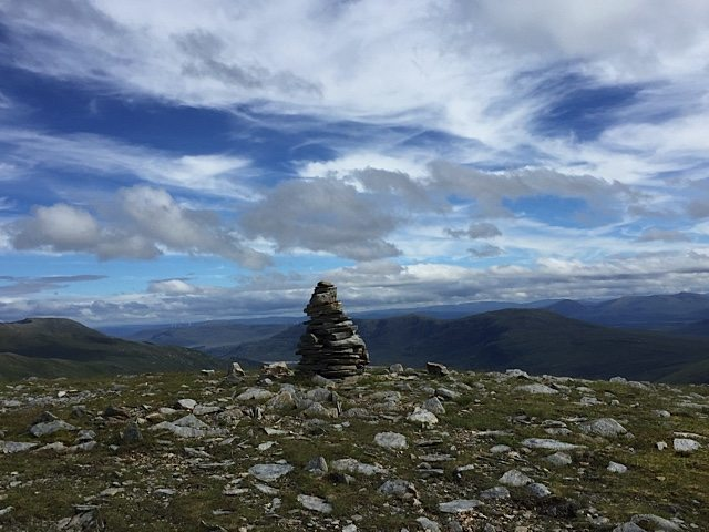 Another mountain top cairn.