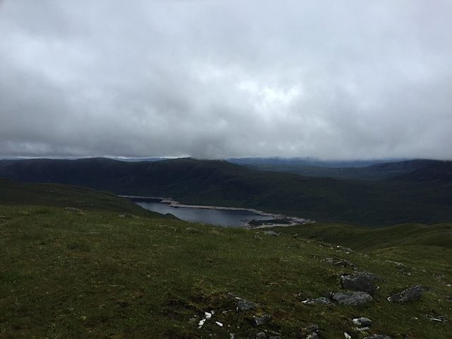 Views back down over Loch Cluanie as we walked up.