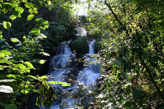 Rouken Glen waterfall.