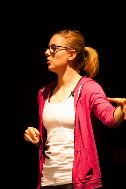 Hannah brings her show to Edinburgh. Pic credit: Niall Coffey.