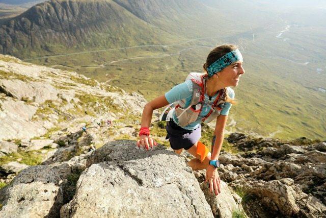 Natalia Tomasiak on Curved Ridge. Pic credit: Ian Corless.