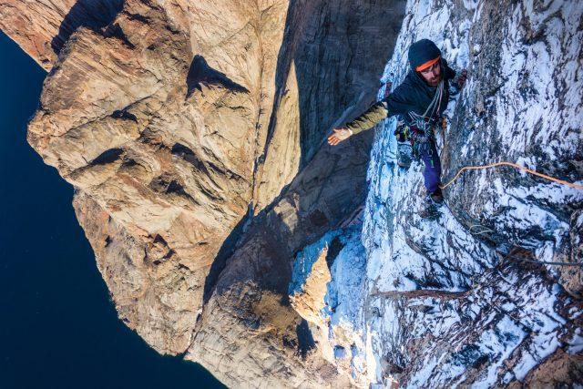 Sean Villanueva Odriscoll climbing on Baffin Island. Pic credit: Ben Ditto