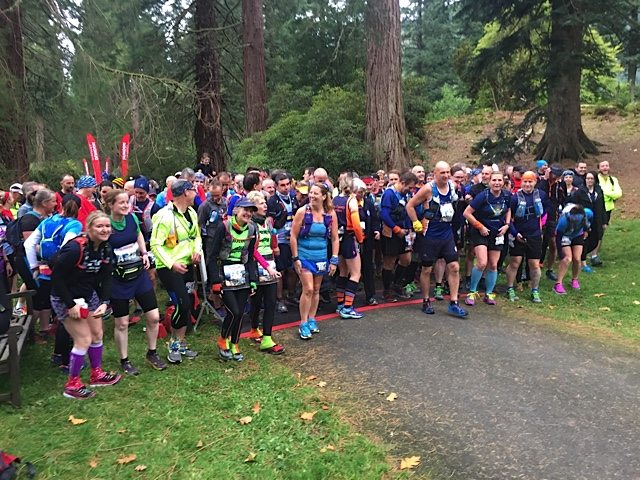 Start line of the Dunoon Ultra on Saturday.