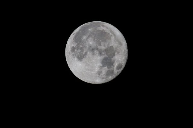 The Supermoon in D&G. Pic credit: MIke Bolam