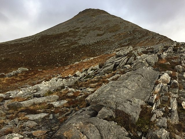 Looking towards the top of Binnein beag.
