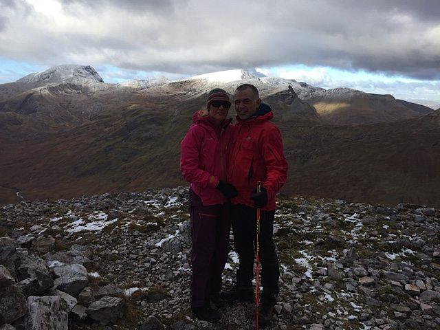 On the summit of Binnein Beag.