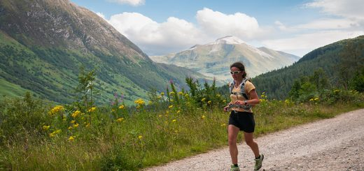 West Highland Way runner. Pic credit: Robin McConnell under Creative Commons licence.