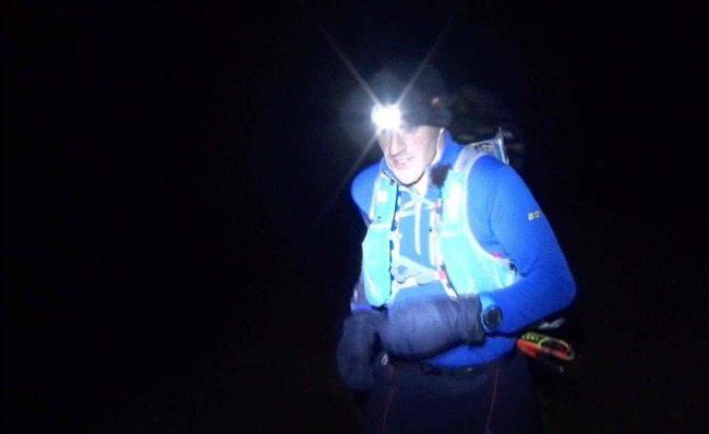 Night running. Pic credit: Tom Owens/Salomon
