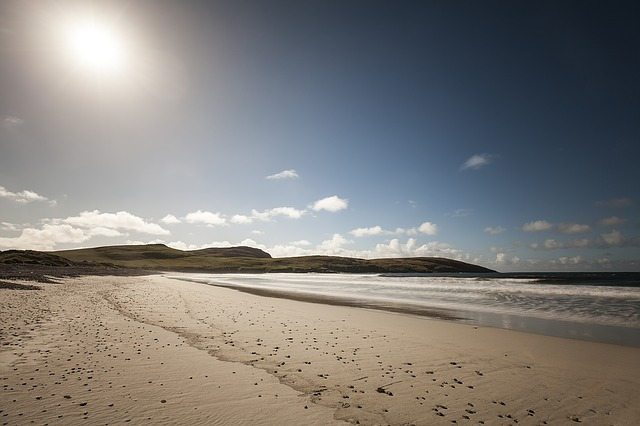 beautiful beach on the Hebridean Cycle Way