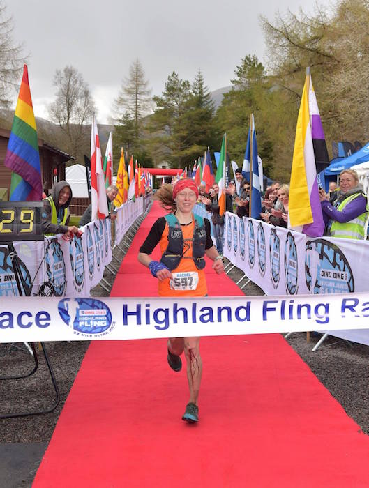 Rachel is first lady in the Highland Fling 2018.