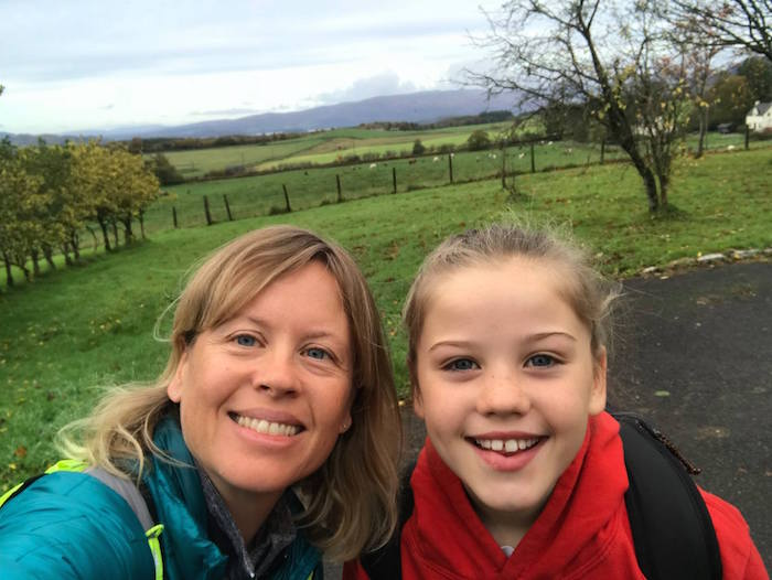 Hilary and Holly enjoyed their mum and daughter walk on the West Highland Way.
