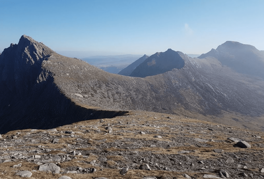 the scotland ultra route follows ridges on the island of arran