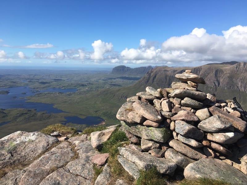 Superb views from Cul Beag.