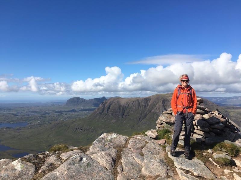 summit of cul beag walk