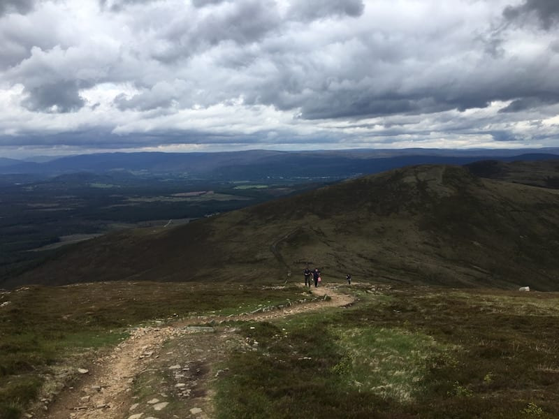 The obvious path on  Meall a' Bhuachaille.