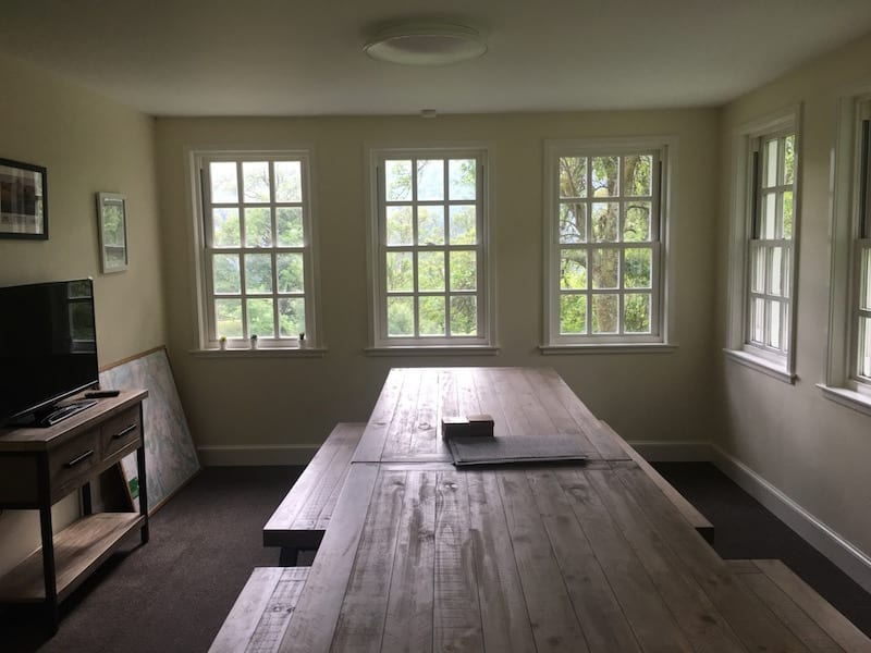 Dining room with a table for everyone - and more.