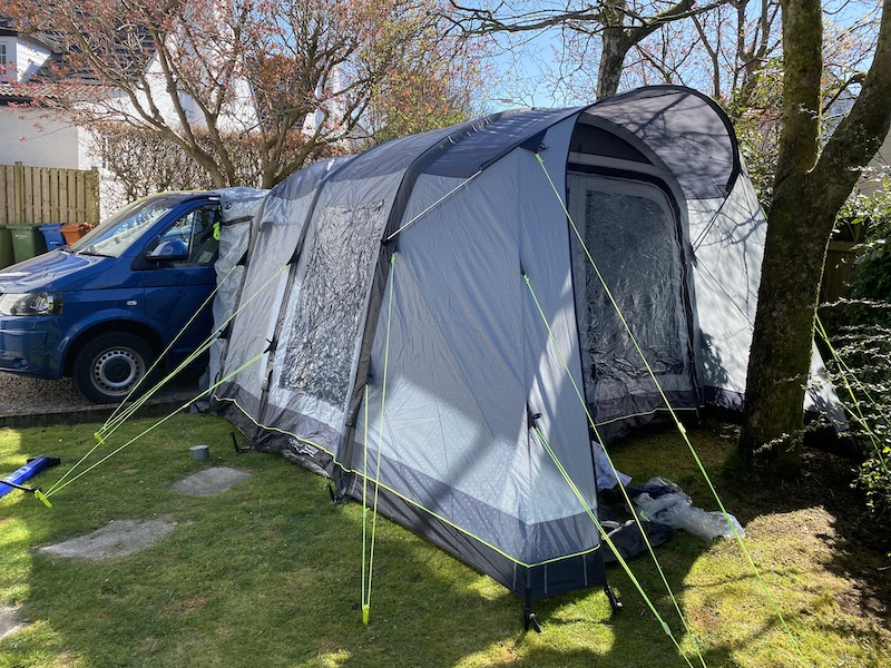 Review of Outwell driveaway tent for campervans