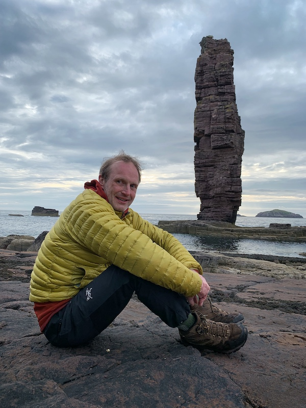 Széll in front of Am Buachaille (photo Keith Partridge)