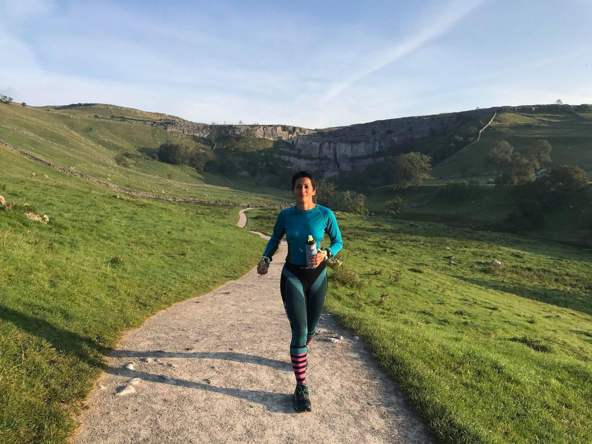 Sabrina Verjee's record run on the Pennine Way.