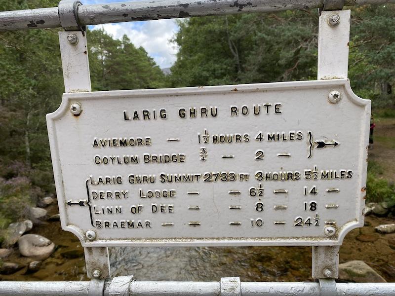 Lairig Ghru route