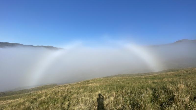 Beinn a'Choin fog bow