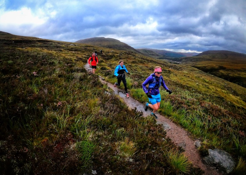 Run-walk of the Lairig Ghru with friends. Credit: Graham Kelly