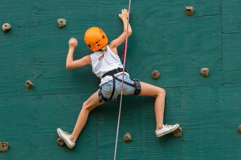 child climbing.