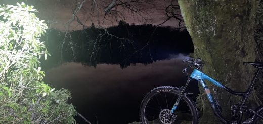 night mountain bike riding