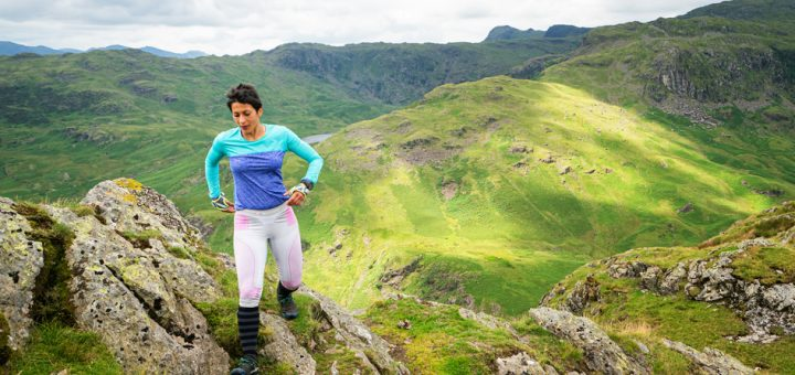 Sabrina Verjee on Gibson Knott during her 2020 Wainwrights round - copyright Steve Ashworth